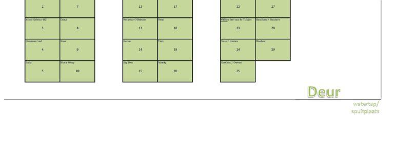 Startlijsten en stalindeling staan online!!